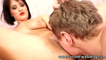 handjob post a with slave orgasm tied French student returns